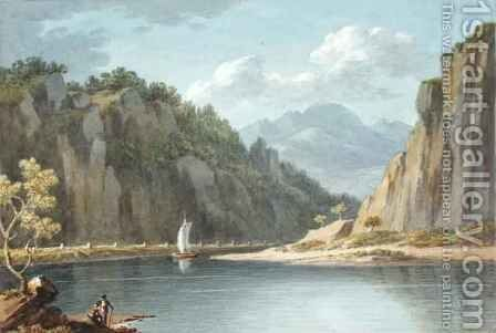 On the River Elbe near Lowositz in Saxony by Sir Richard Colt Hoare - Reproduction Oil Painting