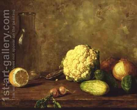 Still Life with Cauliflower by Alfred Hirv - Reproduction Oil Painting