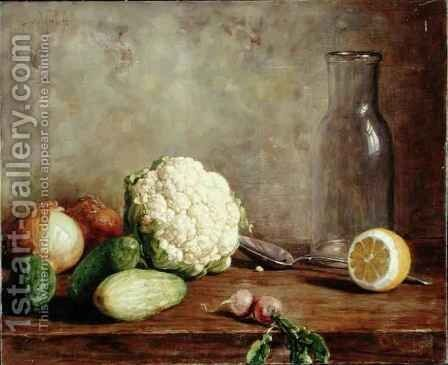 Still Life with Cauliflower 2 by Alfred Hirv - Reproduction Oil Painting