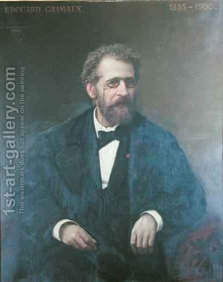 Edouard Grimaux 1835-1900 by Auguste Alexandre Hirsch - Reproduction Oil Painting