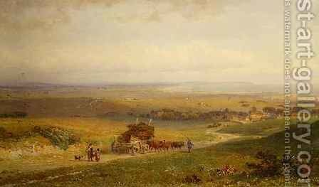 Pevensey Bay Sussex by Henry George Hine - Reproduction Oil Painting