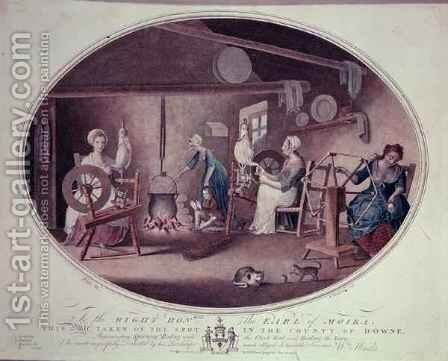 Cottage Industry by (after) Hincks, William - Reproduction Oil Painting
