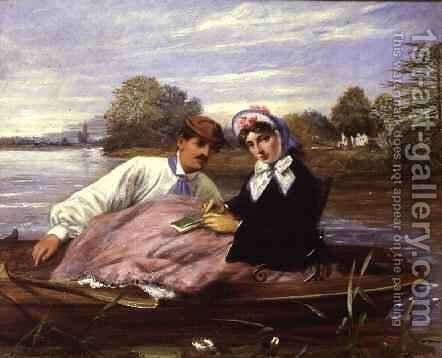 The Rowing Match by H. Hilt - Reproduction Oil Painting