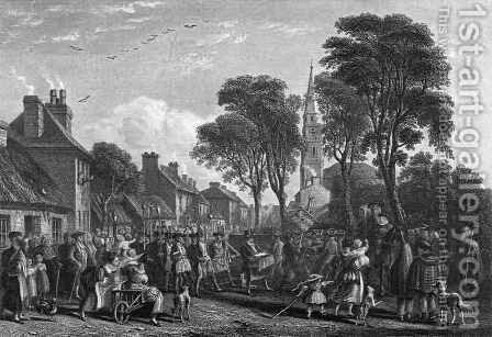Tarbolton Procession of St James Lodge by David Octavius Hill - Reproduction Oil Painting