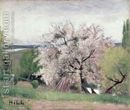 Fruit Tree in Blossom Bois le Roi by Carl Fredrik Hill - Reproduction Oil Painting