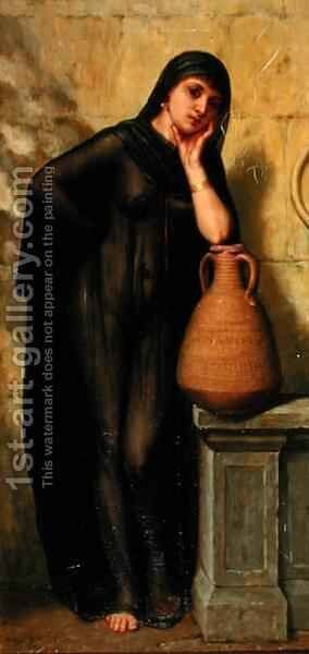 An Egyptian Water Carrier by Arthur Hill - Reproduction Oil Painting