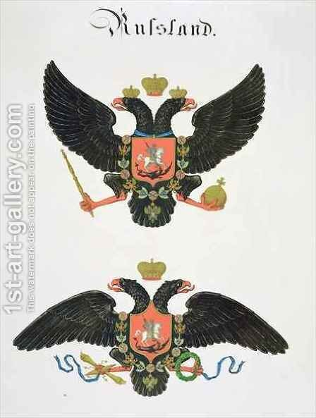 Arms the state of Imperial Russia by C. Hildebrandt - Reproduction Oil Painting
