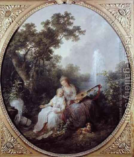 Music by Jean-Baptiste Hilaire - Reproduction Oil Painting