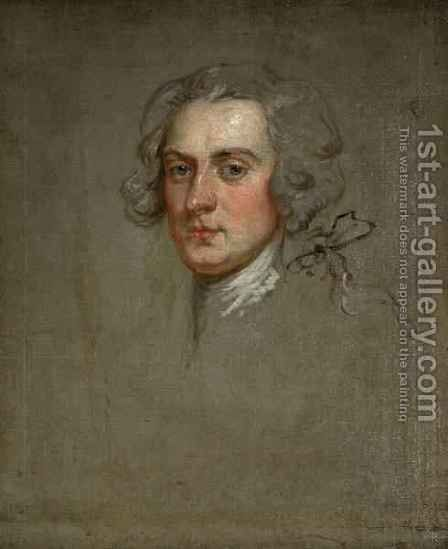 Portrait of an Unknown Gentleman by (after) Highmore, Joseph - Reproduction Oil Painting