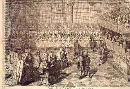 The Knights of the Order of the Bath at a Dinner to honour Prince William by (after) Highmore, Joseph - Reproduction Oil Painting