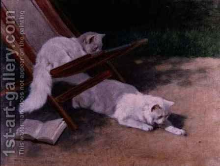 An Uninvited Guest by Arthur Heyer - Reproduction Oil Painting