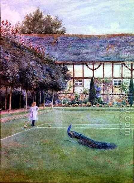On the Croquet Lawn by Arthur L. Hewlett - Reproduction Oil Painting