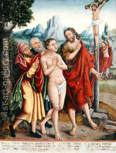 Allegory of the Salvation of Humanity by Antonius Heusler - Reproduction Oil Painting