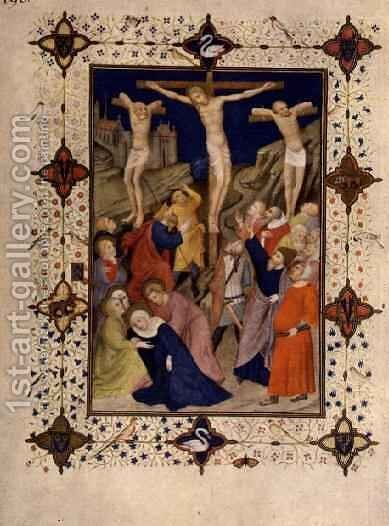 Hours of the Cross None Jesus on the Cross from the Tres Riches Heures du Duc de Berry by Jacquemart De Hesdin - Reproduction Oil Painting