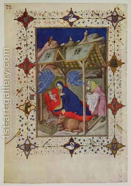 Hours of Notre Dame Prime The Birth of Christ from the Tres Riches Heures du Duc de Berry 2 by Jacquemart De Hesdin - Reproduction Oil Painting