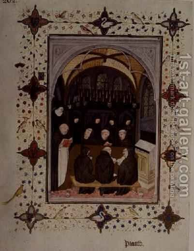 Offices of the Dead funeral ceremonies by Jacquemart De Hesdin - Reproduction Oil Painting