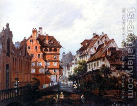 Rue des Tanneurs Colmar by Michel Hertrich - Reproduction Oil Painting