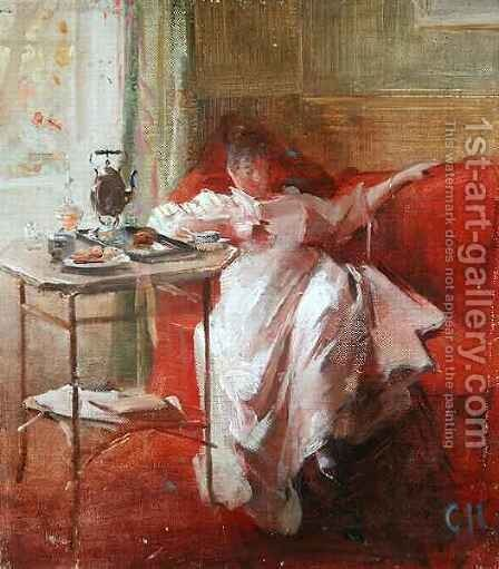 Siesta by Curt Herrmann - Reproduction Oil Painting