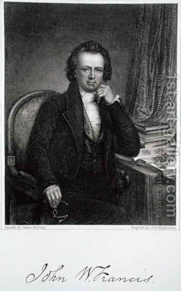 John W Francis 1778-1861 by (after) Herring, James - Reproduction Oil Painting