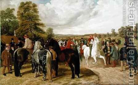 The Horse Fair Southborough Common by Benjamin Herring, Jnr. - Reproduction Oil Painting