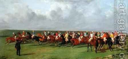 Silks and Satins of the Turf by Benjamin Herring, Jnr. - Reproduction Oil Painting