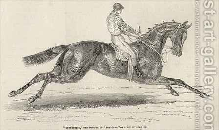 Refraction the winner of The Oaks from The Illustrated London News by (after) Herring Snr, John Frederick - Reproduction Oil Painting