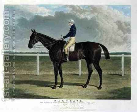 Margrave the Winner of the Great St Leger Stakes at Doncaster by (after) Herring Snr, John Frederick - Reproduction Oil Painting