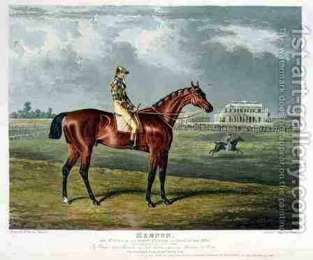 Memnon the Winner of the Great St Leger at Doncaster by (after) Herring Snr, John Frederick - Reproduction Oil Painting