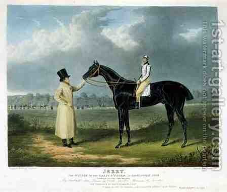 Jerry the Winner of the Great St Leger at Doncaster by (after) Herring Snr, John Frederick - Reproduction Oil Painting