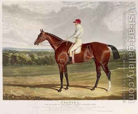 Spaniel the Winner of the Derby Stakes at Epsom by (after) Herring Snr, John Frederick - Reproduction Oil Painting