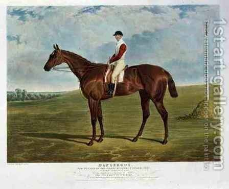 Dangerous the Winner of the Derby Stakes at Epsom by (after) Herring Snr, John Frederick - Reproduction Oil Painting