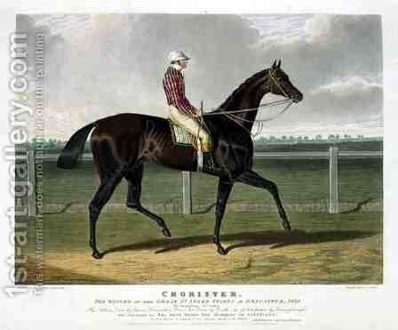 Chorister the Winner of the Great St Leger Stakes at Doncaster by (after) Herring Snr, John Frederick - Reproduction Oil Painting