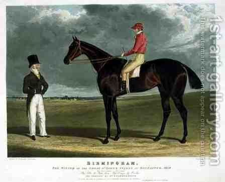 Birmingham the Winner of the Great St Leger Stakes at Doncaster by (after) Herring Snr, John Frederick - Reproduction Oil Painting