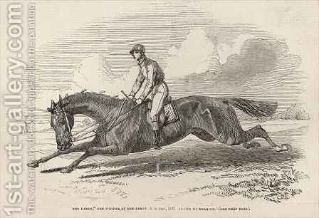 The Baron the winner of the Great St Leger from The Illustrated London News by (after) Herring Snr, John Frederick - Reproduction Oil Painting