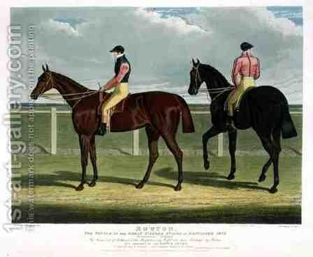 Rowton the Winner of the Great St Leger Stakes at Doncaster by (after) Herring Snr, John Frederick - Reproduction Oil Painting