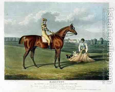 Barefoot the Winner of the Great St Leger at Doncaster by (after) Herring Snr, John Frederick - Reproduction Oil Painting