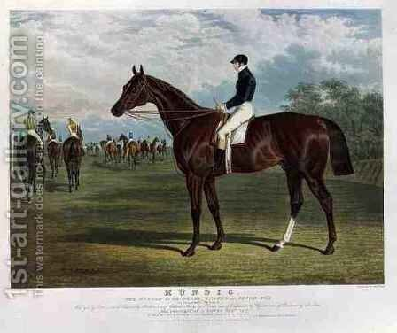 Mundig the Winner of the Derby Stakes at Epsom by (after) Herring Snr, John Frederick - Reproduction Oil Painting