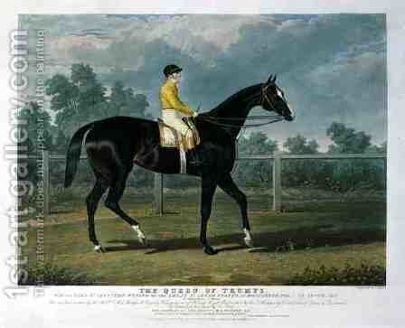 Queen of Trumps Won the Oaks Stakes the Winner of the Great St Leger Stakes at Doncaster by (after) Herring Snr, John Frederick - Reproduction Oil Painting