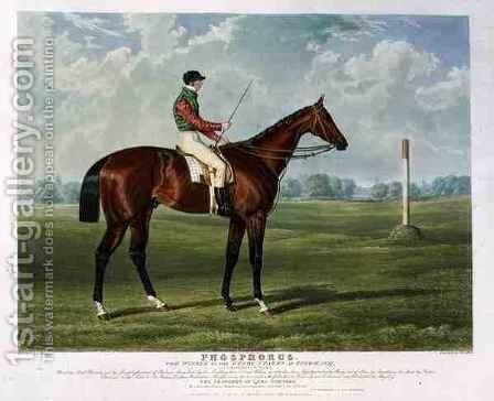 Phosphorus the Winner of the Derby Stakes at Epsom by (after) Herring Snr, John Frederick - Reproduction Oil Painting