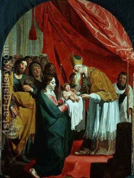 The Presentation in the temple by Willem van, the Elder Herp - Reproduction Oil Painting