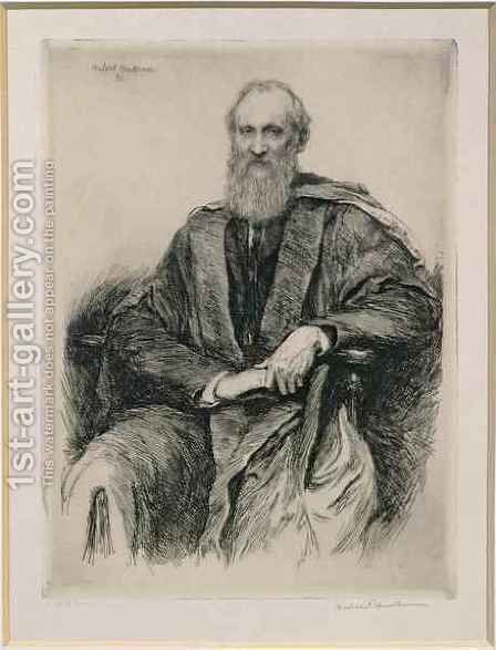 William Thomson 1st Baron Kelvin 1824-1907 British mathematician and physicist by Sir Hubert von Herkomer - Reproduction Oil Painting
