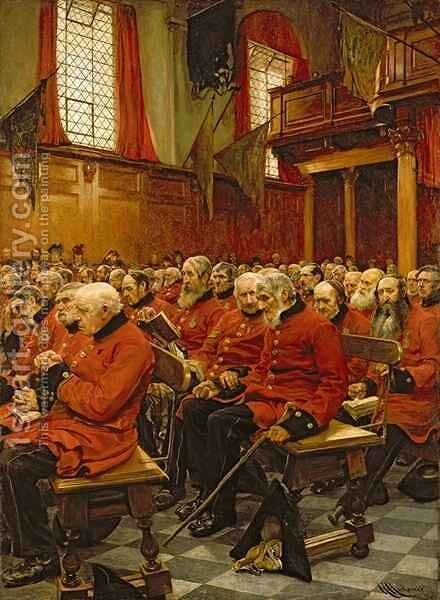 The Last Muster 2 by Sir Hubert von Herkomer - Reproduction Oil Painting