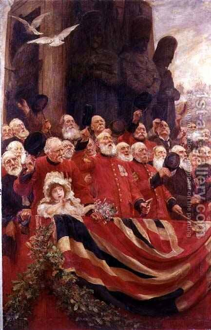 The Old Guards Cheer by Sir Hubert von Herkomer - Reproduction Oil Painting