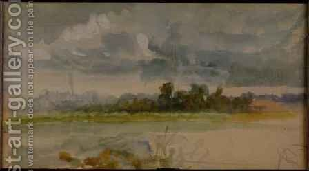 One of the Three Landscape Sketches 2 by Sir Hubert von Herkomer - Reproduction Oil Painting