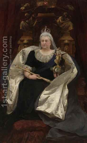 Queen Victoria 1819-1901 by Sir Hubert von Herkomer - Reproduction Oil Painting