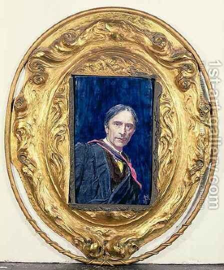 Self Portrait of the Artist by Sir Hubert von Herkomer - Reproduction Oil Painting