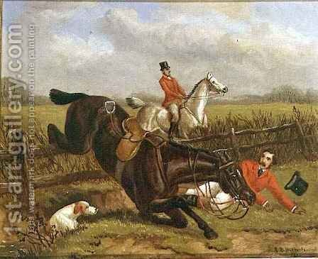 A Fall out Hunting by Edward Benjamin Herberte - Reproduction Oil Painting