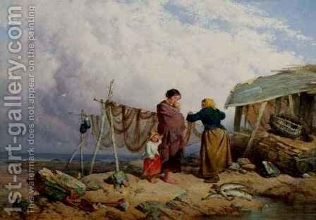 The Fishermans Family by Isaac Henzell - Reproduction Oil Painting