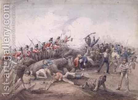 Eureka Stockade riot Ballarat Australia by J.R. Henderson - Reproduction Oil Painting