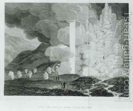 The Great Geyser of Strokkr Iceland by (after) Henderson, Ebenezer - Reproduction Oil Painting